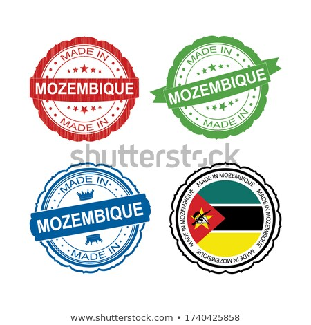 Made in Mozambique on Red Stamp. Stock photo © tashatuvango