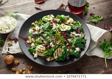 Foto stock: Abobrinha · salada · verde · vegetal · fresco · dieta