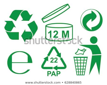 zöld · környezet · újrahasznosít · ikonok · papír · ház - stock fotó © vadimone