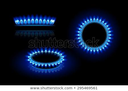 Ardor gas anillo estufa aislado blanco Foto stock © konturvid