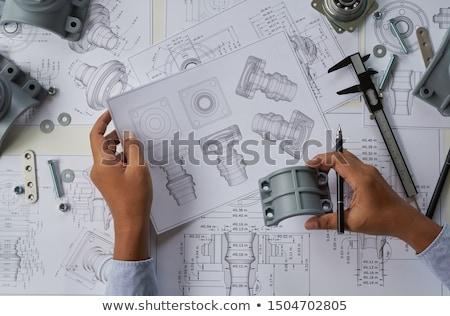 инженерных дизайна рисунок инструменты пару карандашом Сток-фото © tangducminh