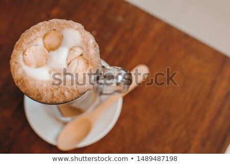 soft focus on milk froth of an espresso coffee with cocoa powder Stock photo © Rob_Stark