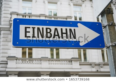 german one way sign stock photo © magann