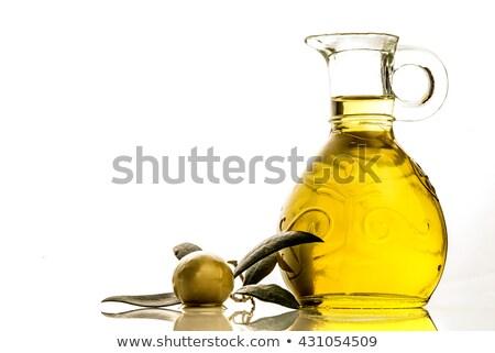 cruet with extra olive oil stock photo © marimorena