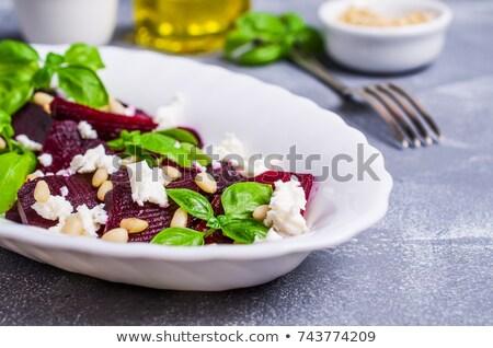 red root and goat cheese Stock photo © jonnysek