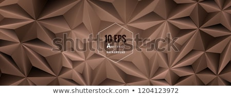 zadel · bruin · abstract · laag · veelhoek · stijl - stockfoto © mcherevan