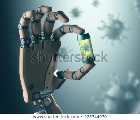 Nano robot kamera radyo imzalamak Stok fotoğraf © idesign