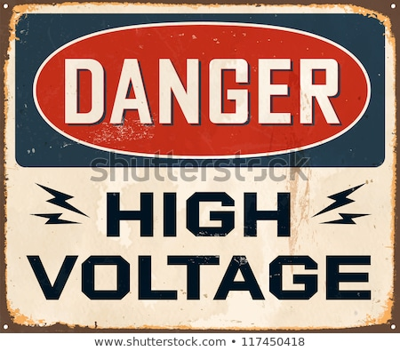 old poster with a high-voltage lines Stock photo © tracer