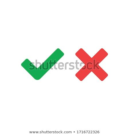 Tick Mark Vector Red Web Icon Stock photo © rizwanali3d