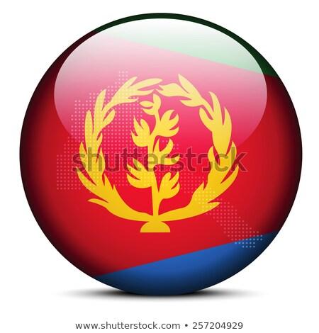 Eritrea · zászló · gomb · textúra · művészet · kék - stock fotó © istanbul2009