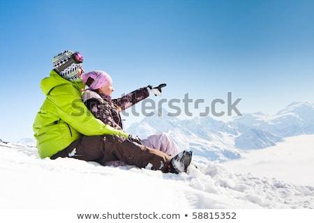 panorama · kar · dağlar · Kayak · başvurmak - stok fotoğraf © kor