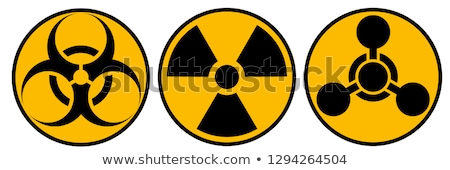 Radioactivité symbole blanche vecteur signe orange Photo stock © blumer1979