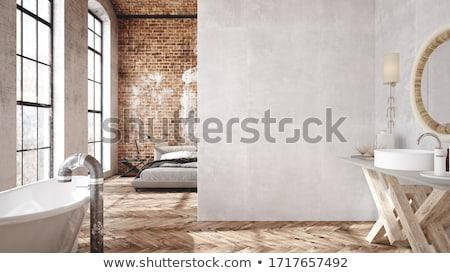 3D slaapkamer moderne ontwerp interieur Stockfoto © wxin