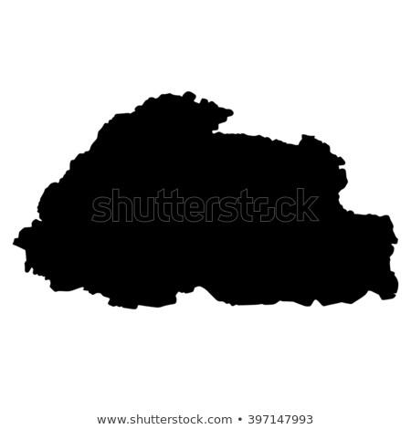 Térkép Bhután gomb zászló szimbólum fehér Stock fotó © mayboro1964