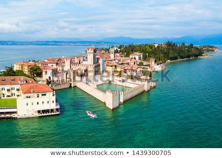 panoramic view from the scaliger castle at sirmione town stock photo © master1305