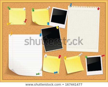 Cortiça boletim conselho notas fotos Foto stock © Bytedust
