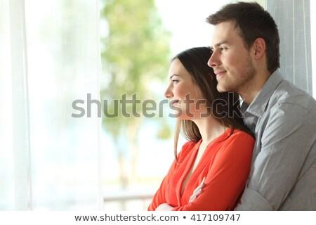 Jonge huwelijk paar huwelijksreis cute Stockfoto © majdansky