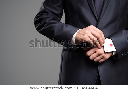 Stock photo: hidden ace