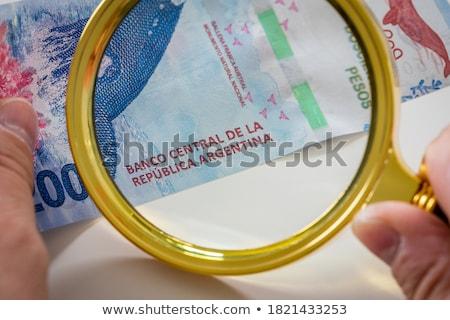 Billetes monedas Argentina mesa dinero Foto stock © CaptureLight