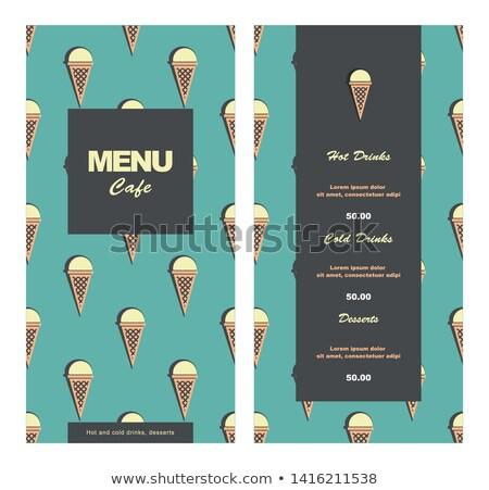 café · beber · crema · batida · chocolate - foto stock © happydancing