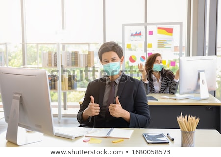 Business man fear protect Stock photo © fuzzbones0