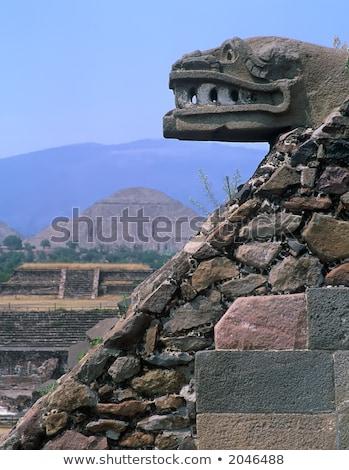 ősi indiai romok Mexikóváros Mexikó szobor Stock fotó © billperry