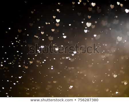background with golden hearts and stars stock photo © boroda