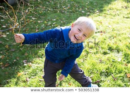 5 éves fiú szabadtér portré napraforgó kéz Stock fotó © igabriela
