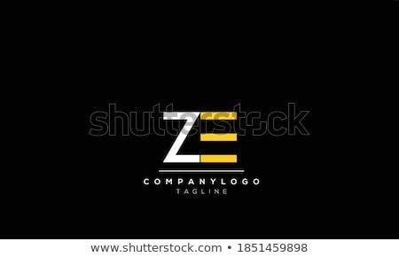 Z betű logotípus vektor terv absztrakt felirat Stock fotó © blaskorizov