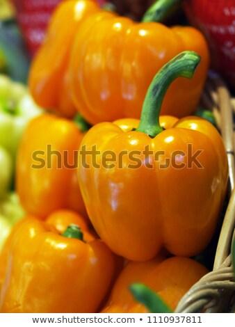 黄色 パプリカ フルーツ 食べ 影 ストックフォト © shutswis