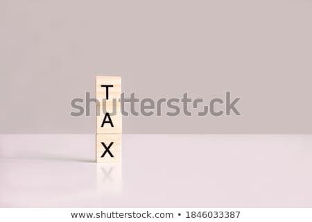 Soldi parola lettera pezzi scuola tavola Foto d'archivio © fuzzbones0