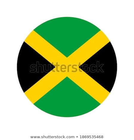 Vignette pavillon Jamaïque isolé blanche Voyage Photo stock © MikhailMishchenko
