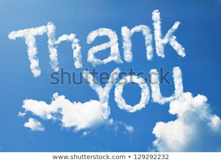 Сток-фото: Thank You Cloud