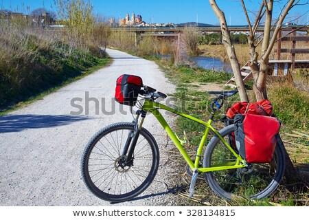 Велоспорт туристических велосипедист весны счастливым спорт Сток-фото © lunamarina