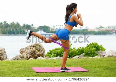 Kadın popo diyet el vücut Stok fotoğraf © Kurhan