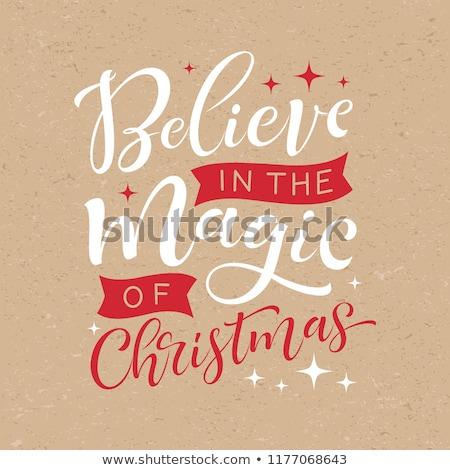Klasszikus karácsonyi üdvözlet díszes elegáns absztrakt terv Stock fotó © Morphart