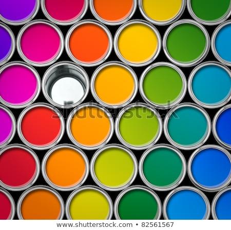 краской · изолированный · белый · фон · металл · зеленый - Сток-фото © tetkoren