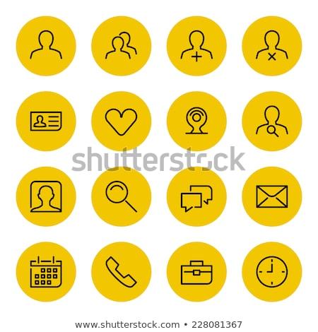 Stok fotoğraf: Phone Yellow Vector Icon Button