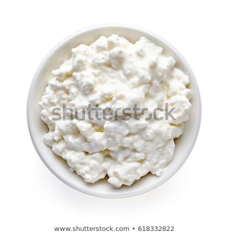 творог пластина изолированный белый природы здоровья Сток-фото © ozaiachin