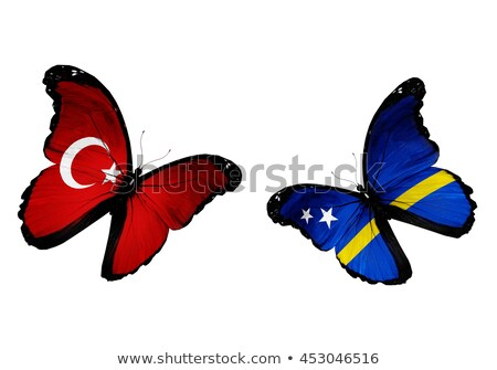 Turkey and Curacao Flags Stock photo © Istanbul2009