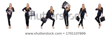 若い女性 黒 服 ハンドバッグ 孤立した ストックフォト © Elnur