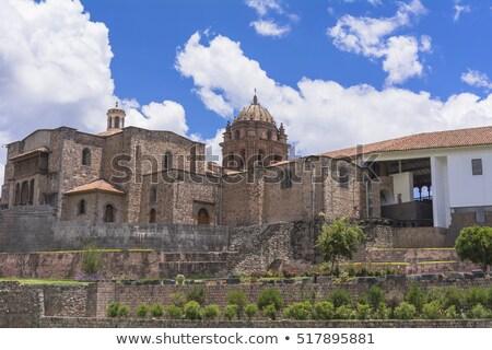 台無しにする · 寺 · ペルー · 壁 · レンガ - ストックフォト © alexmillos