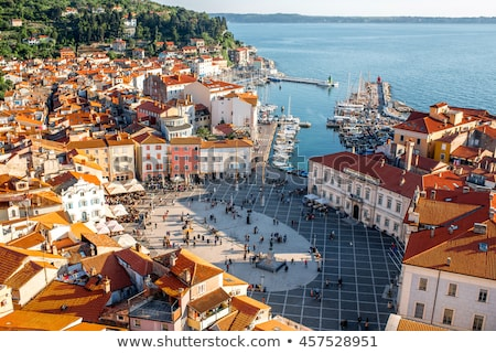 мнение города Словения красный Сток-фото © Kayco