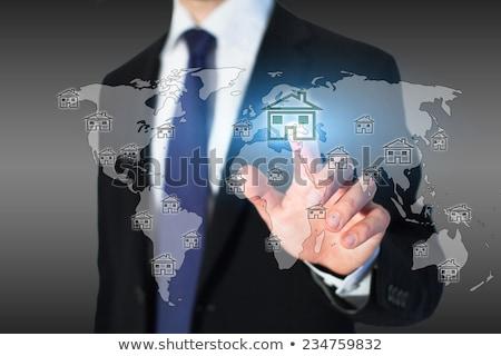 инвестиции · бизнесмен · синий · сломанной · доллара - Сток-фото © elgusser