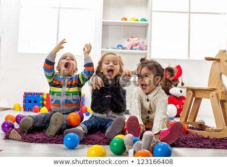 üç oynayan çocuklar genç çocuklar oynama savaş Stok fotoğraf © handmademedia