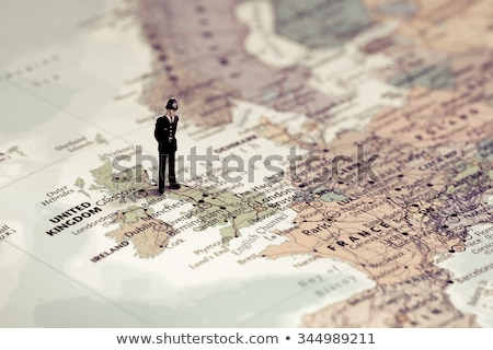British police officer on top of UK map. Color tone tuned Stock photo © Kirill_M