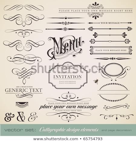 retro labels for calligraphic designs stock photo © genestro