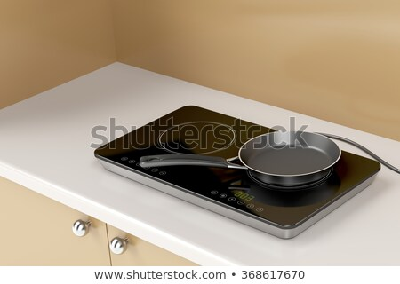 Double induction cooktop and frying pan Stock photo © magraphics