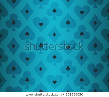 Eenvoudige turkoois poker transparant effect patroon Stockfoto © liliwhite