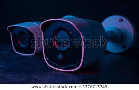 security camera on dark background Stock photo © constantinhurghea